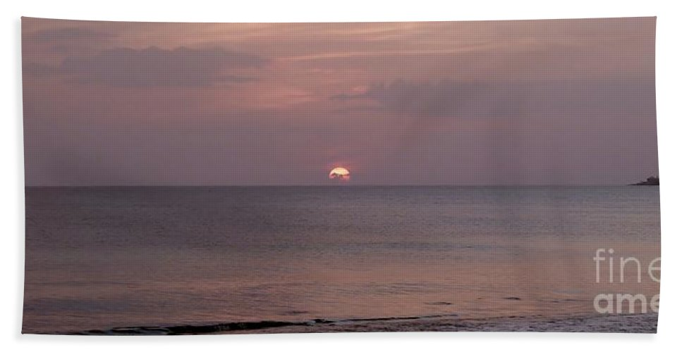 Glorious Sunset Beach Towel featuring the photograph Tiki Sunset 3 by Amar Sheow