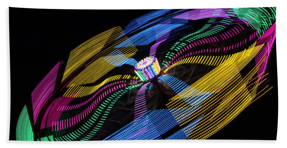 Made In America Beach Towel featuring the photograph Tilt A Whirl by Steven Bateson