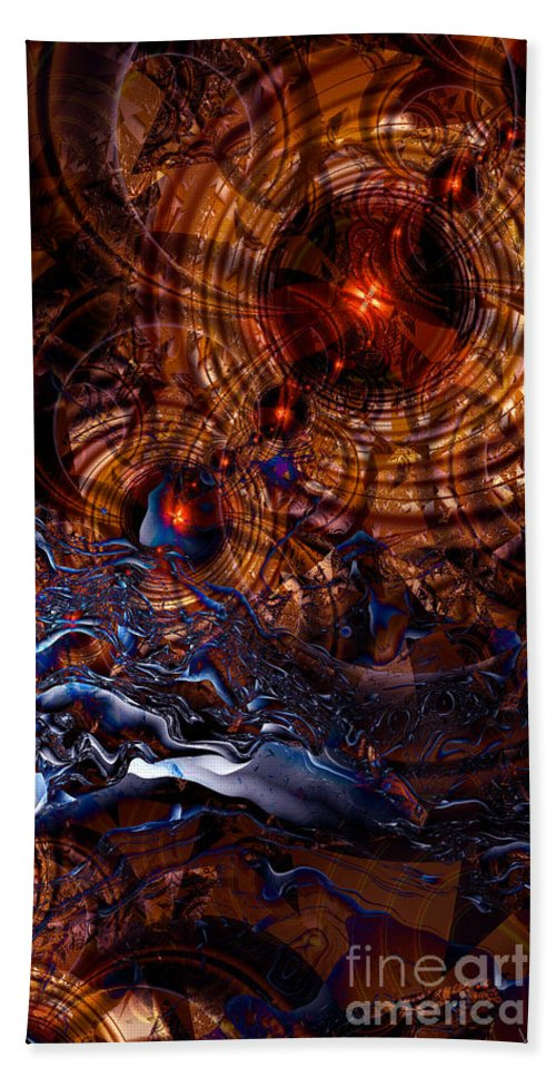 Time After Time Beach Towel featuring the digital art Time After Time by Kimberly Hansen