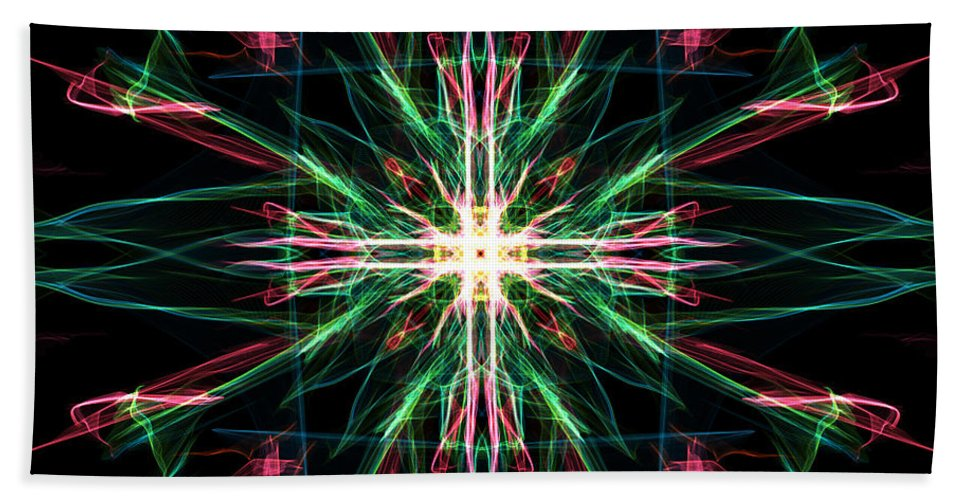 Abstract Beach Towel featuring the digital art Time Portal by George Pedro