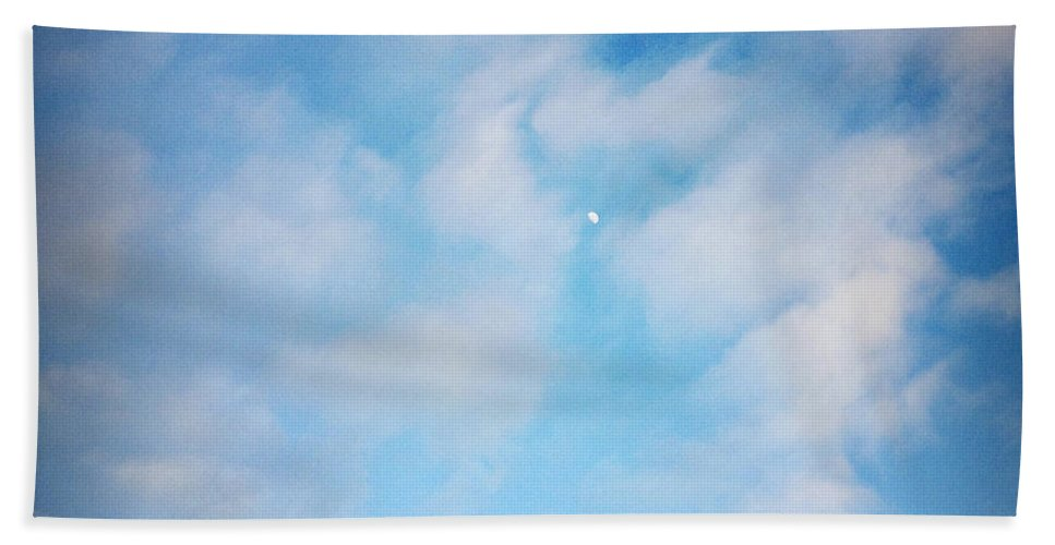 Blue Beach Towel featuring the photograph Tiny Moon by Les Cunliffe
