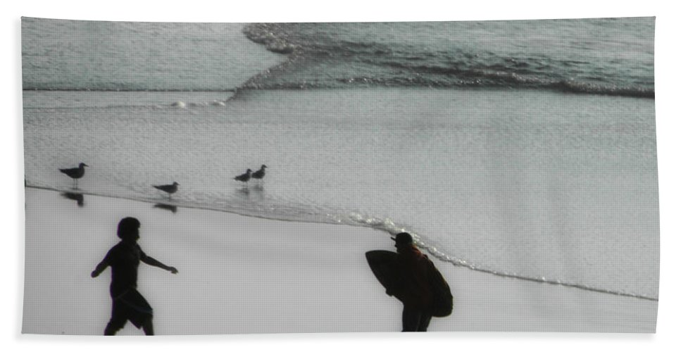 Surf Beach Towel featuring the photograph Tip Toe Through The Surf by Donna Blackhall