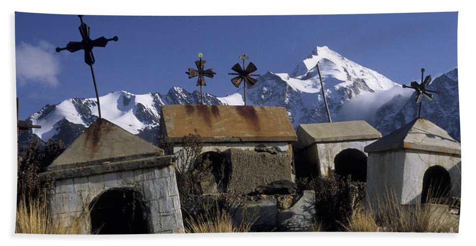 Bolivia Beach Towel featuring the photograph Tombs With A View by James Brunker