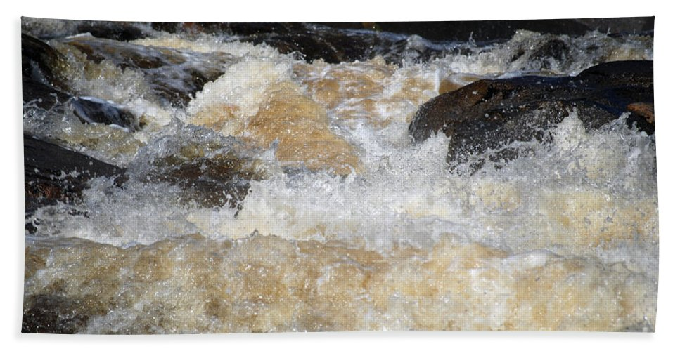 Water Beach Towel featuring the photograph Too Much 983 by Terri Winkler