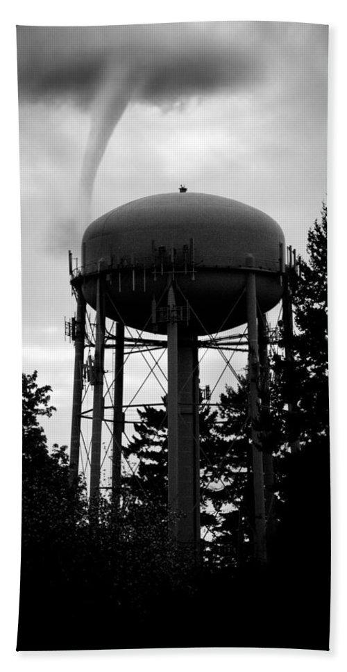 Tornado Beach Towel featuring the photograph Tornado Tower by Aaron Berg