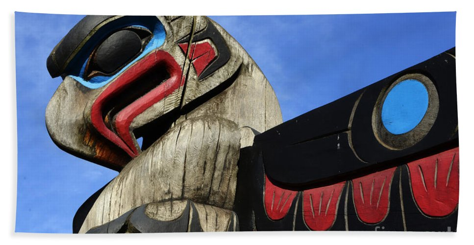 Totem Pole Beach Towel featuring the photograph Totem Pole 2 by Bob Christopher