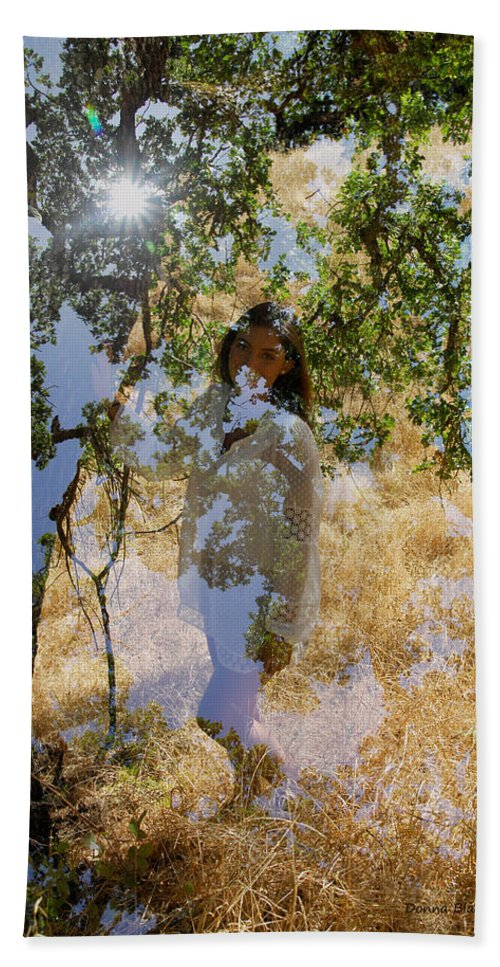 Maiden Beach Towel featuring the photograph Touching Earth by Donna Blackhall