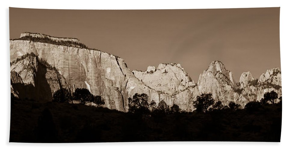 3scape Photos Beach Towel featuring the photograph Towers Of The Virgin by Adam Romanowicz
