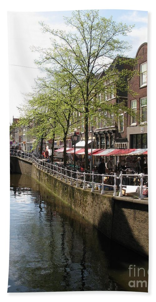 Town Canal Beach Towel featuring the photograph Town Canal - Delft by Christiane Schulze Art And Photography
