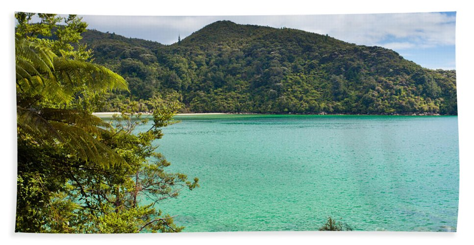 Cook Strait Beach Towel featuring the photograph Tranquil Bay In Abel Tasman Np In New Zealand by Stephan Pietzko