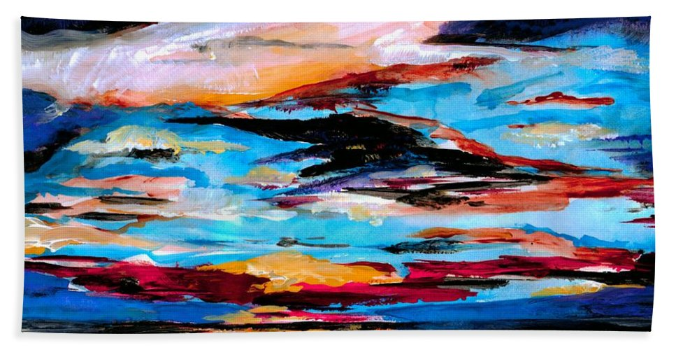 Sky Beach Towel featuring the photograph Tranquil Moments by Artist RiA