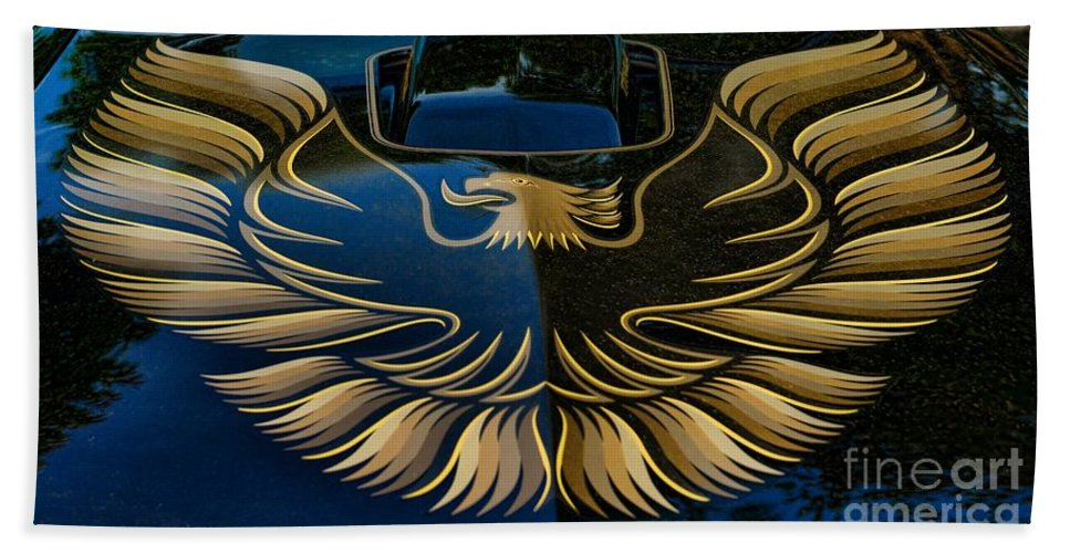 Paul Ward Beach Towel featuring the photograph Trans Am Eagle by Paul Ward