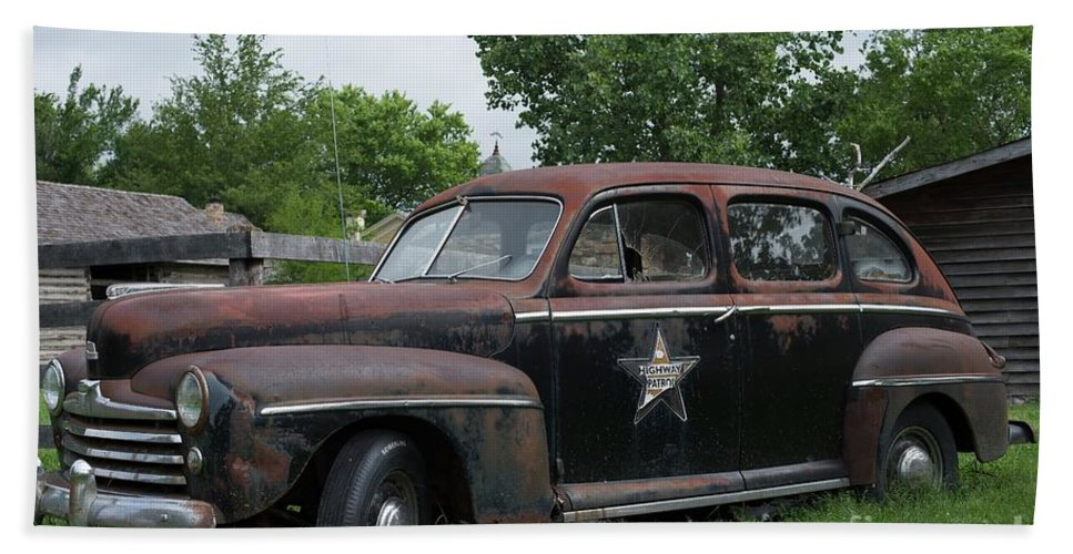 Transportation Beach Towel featuring the photograph Transportation - Classic - Highway Patrol by Liane Wright