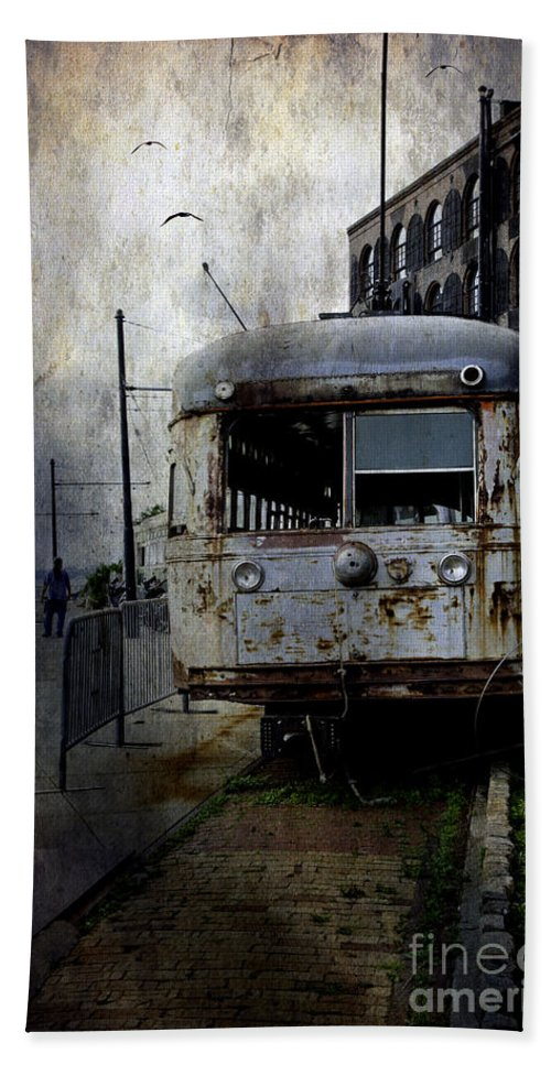 Bus Beach Towel featuring the photograph Travelling Through Time 2 by Madeline Ellis