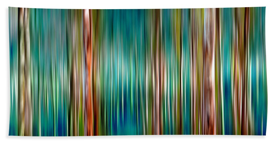 Landscape Beach Towel featuring the digital art Tree Line by Az Jackson