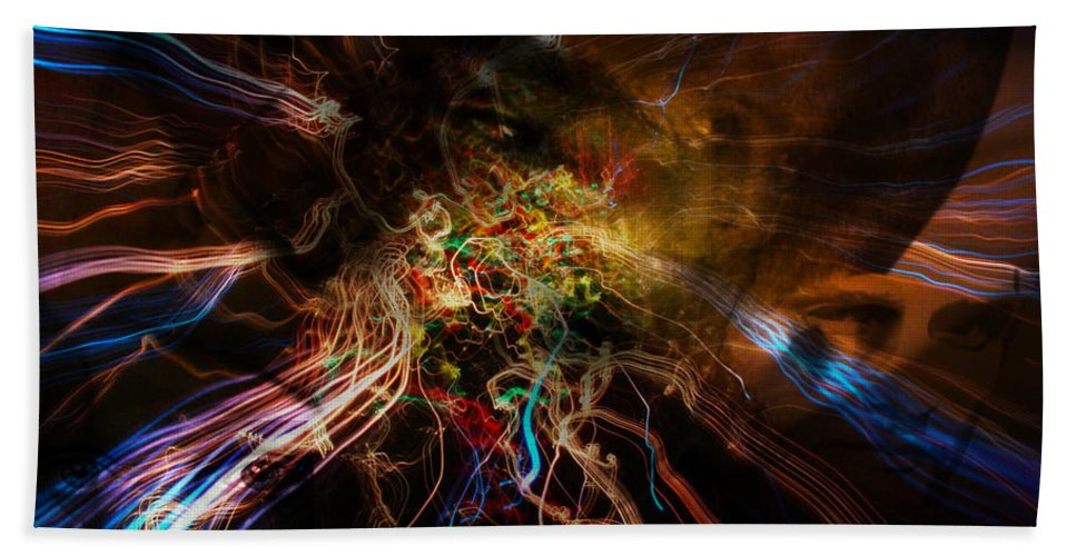 Artwork Beach Towel featuring the digital art Tree Of Life Family Art by Mary Clanahan