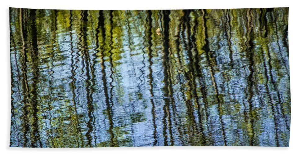 Art Beach Towel featuring the photograph Tree Reflections On A Pond In West Michigan by Randall Nyhof