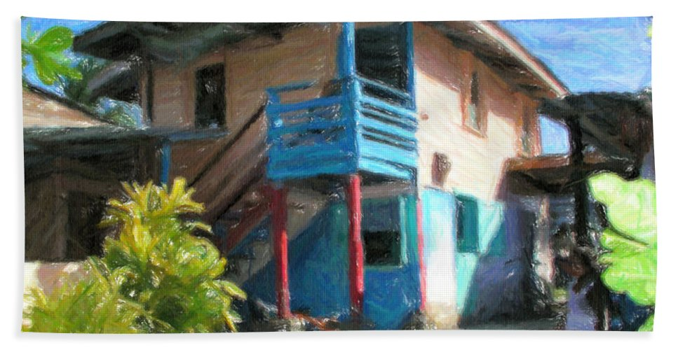 Typical Beach Towel featuring the digital art Trevas House by Jon Delorme