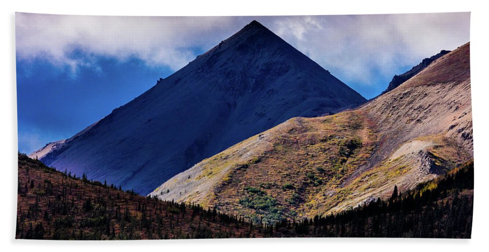 Photography Beach Towel featuring the photograph Triangular Pyramid Mountain, Denali by Panoramic Images