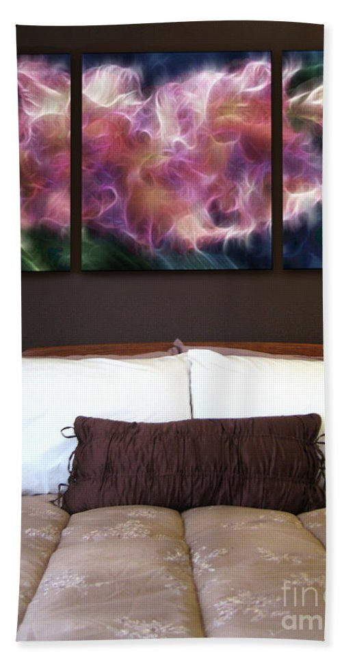 Triptych Beach Towel featuring the painting Triptych Display Sample 01 by Peter Piatt