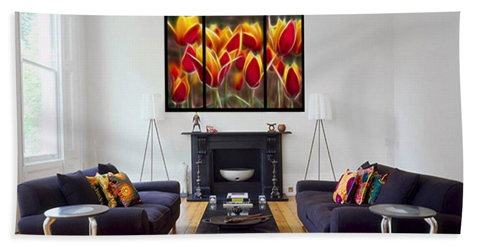 Triptych Beach Towel featuring the photograph Triptych Display Sample 05 by Peter Piatt