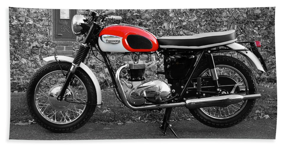 Triumph Bonneville T120 1966 Beach Sheet For Sale By Mark Rogan