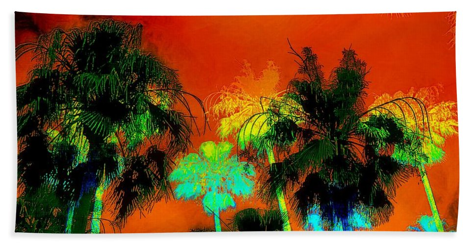 Tropical Beach Towel featuring the photograph Tropical Blend by Barbara Chichester