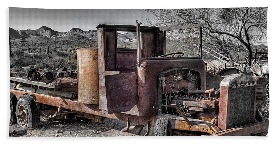 Truck Beach Towel featuring the photograph Truck 2 by Larry White
