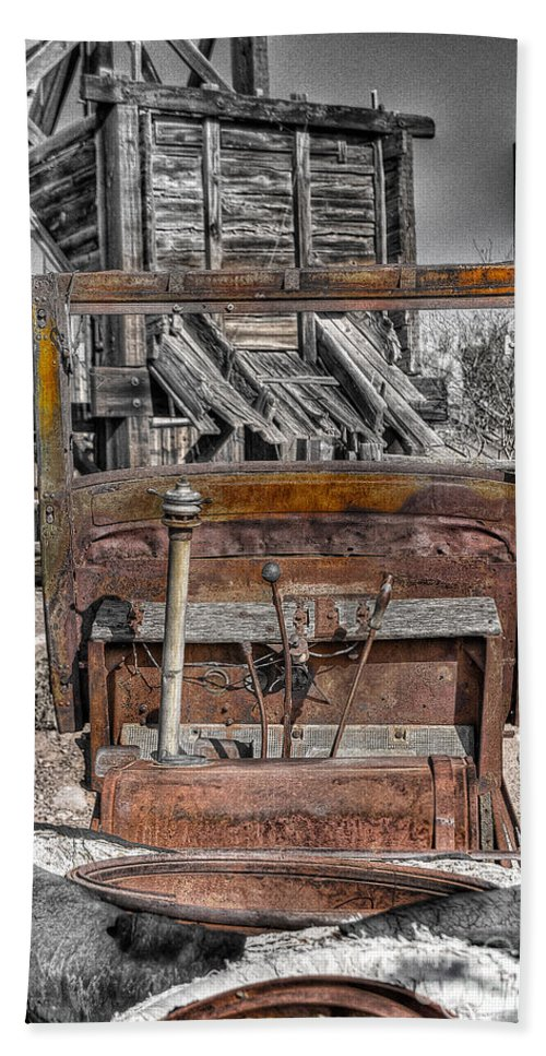 Truck Beach Towel featuring the photograph Truck 3 by Larry White