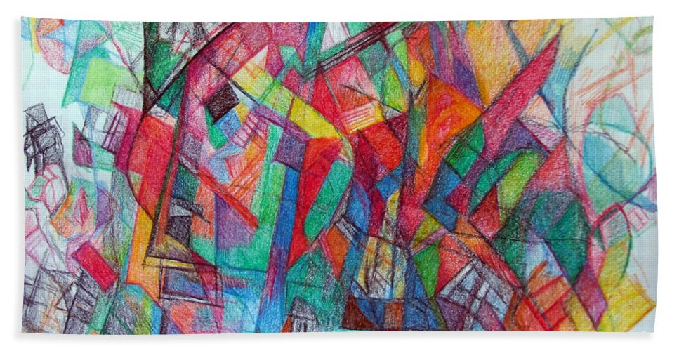 Torah Beach Towel featuring the drawing Try To See Me At Face Value 1 by David Baruch Wolk