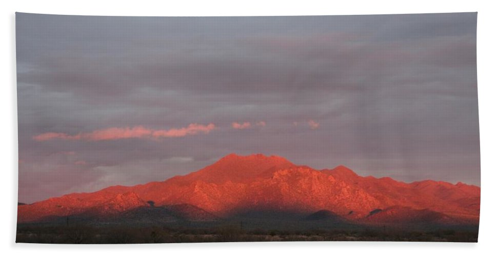 Arizona Beach Towel featuring the photograph Tucson Mountains by David S Reynolds