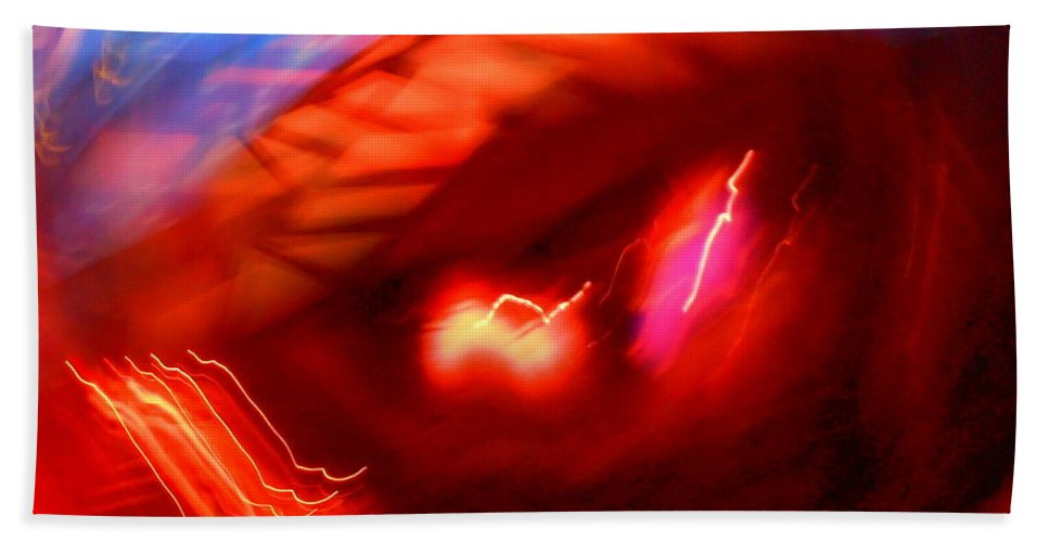 Abstract Beach Towel featuring the photograph Turmoil On Planet Earth by James Welch