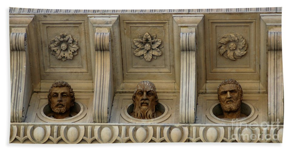 Sculptures Beach Towel featuring the photograph Tuscan Architectural Details by Vivian Christopher