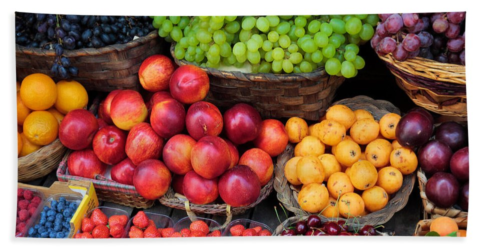 Europe Beach Towel featuring the photograph Tuscan Fruit by Inge Johnsson