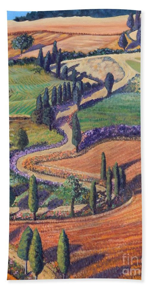 Tuscany Beach Towel featuring the painting Tuscany by Caroline Street