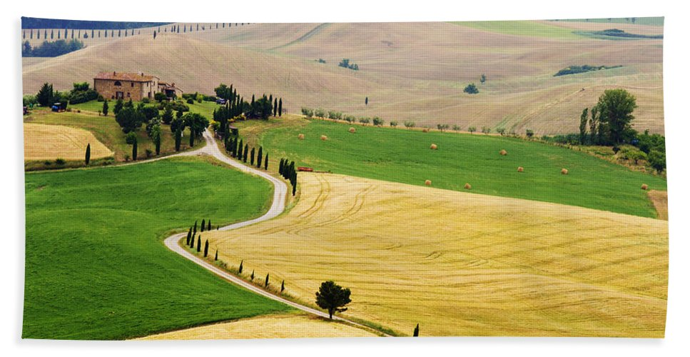 Tuscany Beach Towel featuring the photograph Tuscany Summer by Mircea Costina Photography