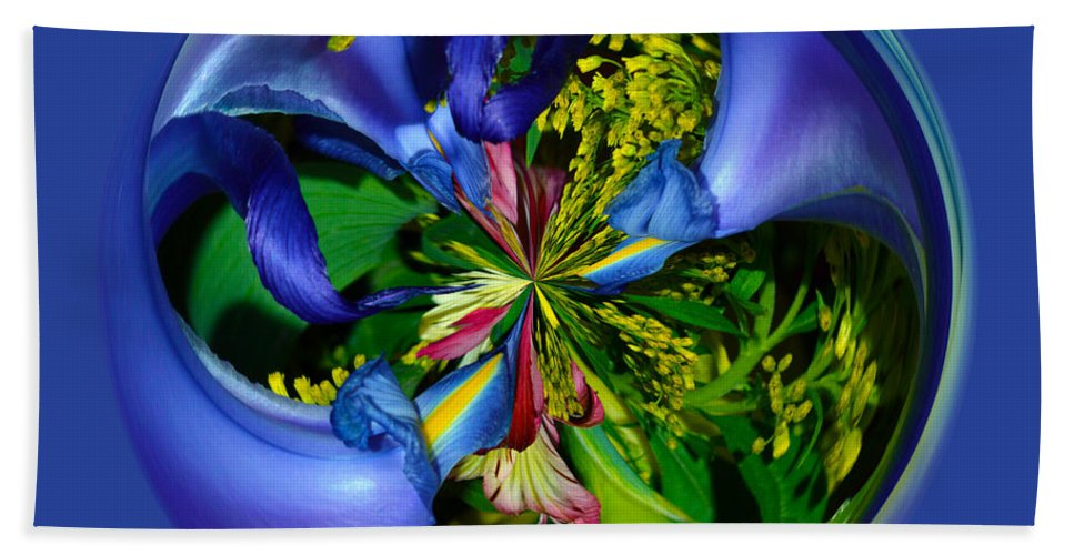Orb Beach Towel featuring the photograph Twisting Orb by Brent Dolliver