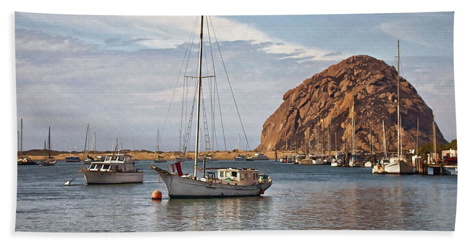 Boat Beach Towel featuring the digital art Two Boats by Sharon Foster