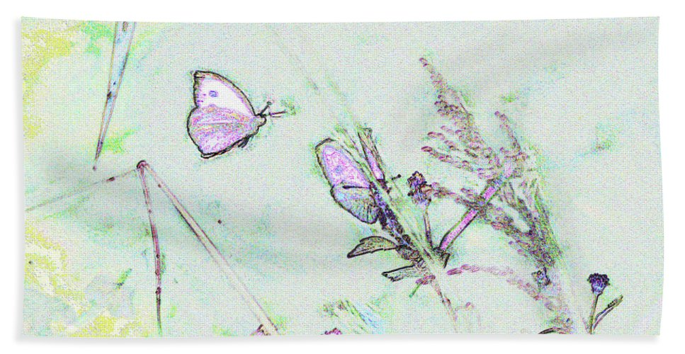 Fine Art Beach Towel featuring the photograph Two Butterflies by Patricia Griffin Brett