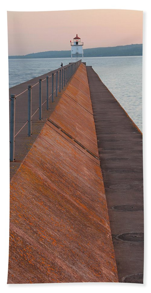 Two Beach Towel featuring the photograph Two Harbors Mn Pier Light 6 by John Brueske