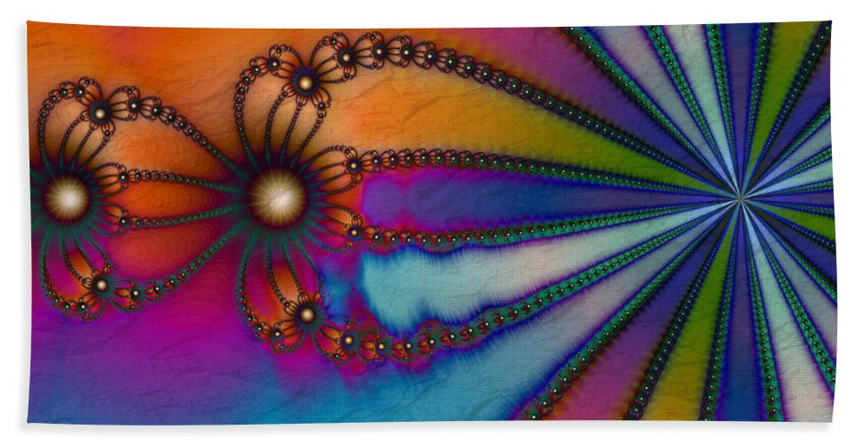 Tye Dye Beach Sheet featuring the digital art Tye Dye by Kimberly Hansen