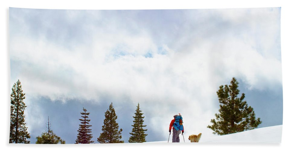 Day Beach Towel featuring the photograph Tyle Brown Kite Skiing In The Tahoe by Sean Naugle