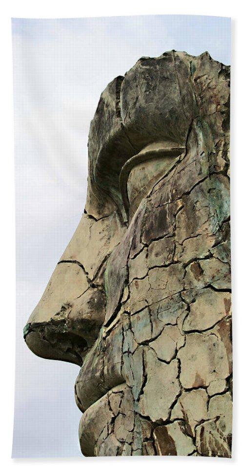 Tyndareus Cracked Beach Sheet featuring the photograph Tyndareus Cracked 1 by Ellen Henneke