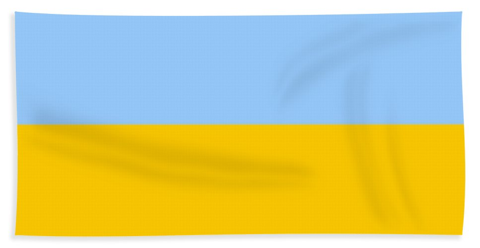 Ukraine Beach Towel featuring the digital art Ukraine Flag by Frederick Holiday