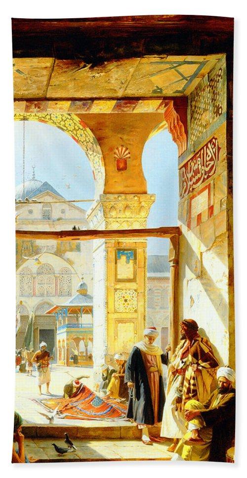 Orientalism Beach Towel featuring the photograph Umayyad Mosque by Munir Alawi