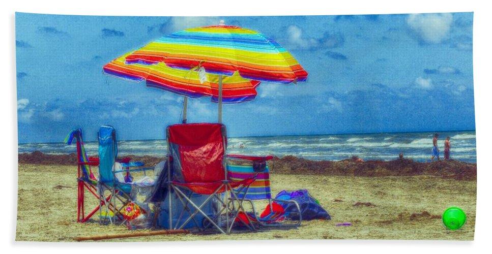 Beach Beach Towel featuring the photograph Umbrellas At The Beach by Kristina Deane