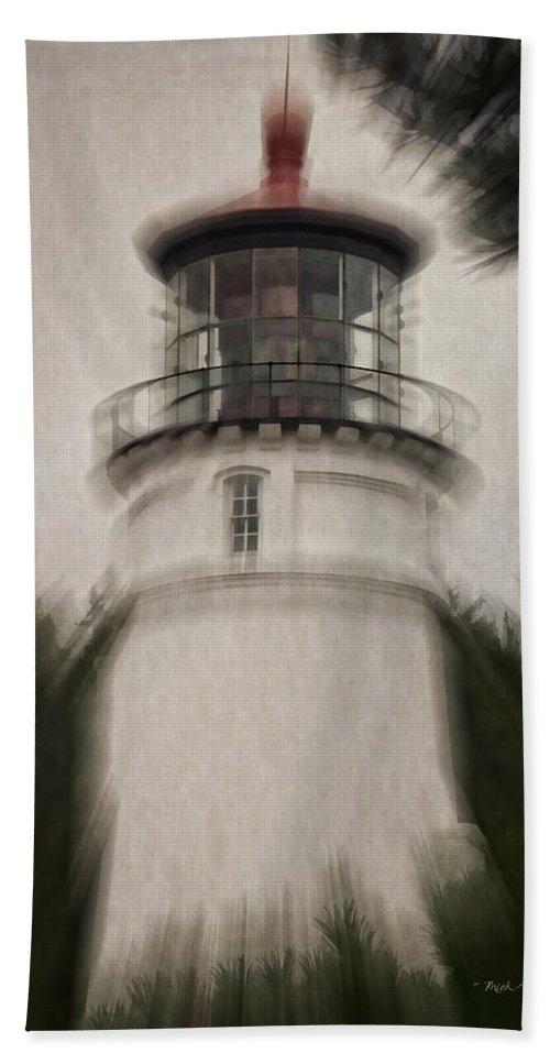 Umpqua Lighthouse Beach Towel featuring the photograph Umpqua Light Fantasy by Mick Anderson
