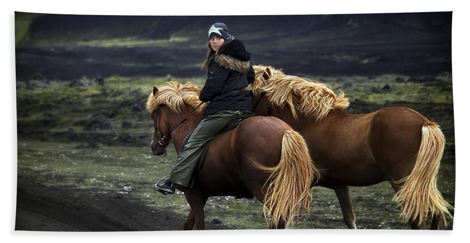 Landmannalaugar Beach Towel featuring the photograph Unable To Stay. Unwilling To Leave. by Evelina Kremsdorf