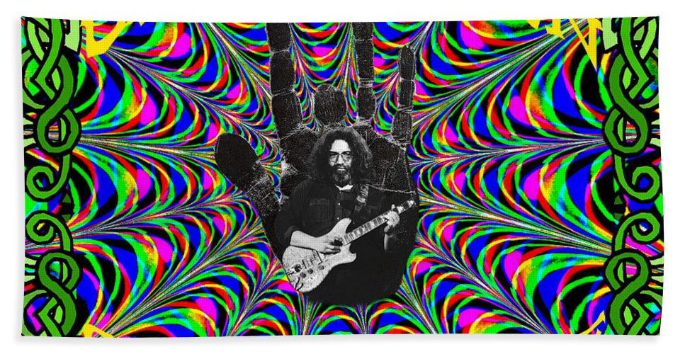 Jerry Garcia Beach Towel featuring the photograph Unbroken Chain Of Love by Ben Upham