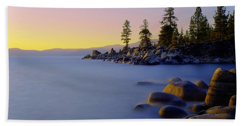 Lake Tahoe Beach Towel featuring the photograph Under Clear Skies by Chad Dutson